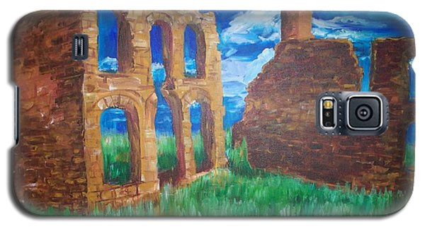 Galaxy S5 Case featuring the painting  Ghost Town  by Eric  Schiabor