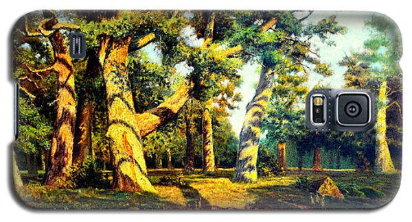Galaxy S5 Case featuring the painting   Green Summer-the Oak Forest by Henryk Gorecki