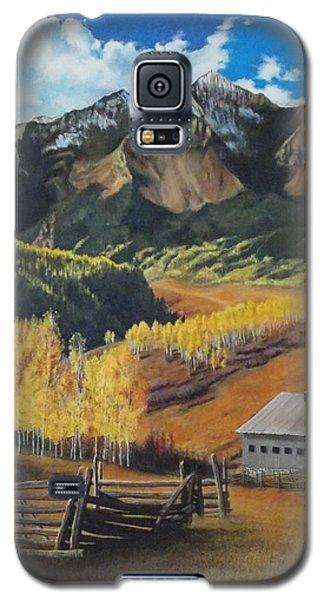 I Will Lift Up My Eyes To The Hills Autumn Nostalgia  Wilson Peak Colorado Galaxy S5 Case by Anastasia Savage Ealy