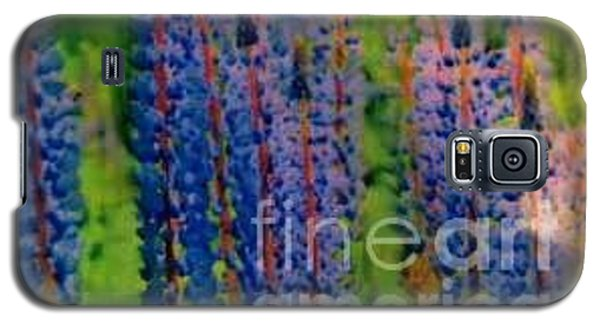 Galaxy S5 Case featuring the painting  Lois Love Of Lupine by FeatherStone Studio Julie A Miller
