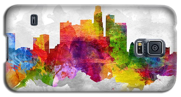 Los Angeles California Cityscape 13 Galaxy S5 Case by Aged Pixel