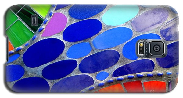 Mosaic Abstract Of The Blue Green Red Orange Stones Galaxy S5 Case