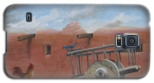 Galaxy S5 Case featuring the painting  Old Spanish Cart  by Oz Freedgood