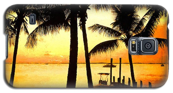 Palm Sunset On The Keys Galaxy S5 Case