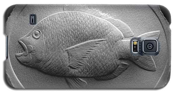 Galaxy S5 Case featuring the relief  Relief Saltwater Fish Drawing by Suhas Tavkar