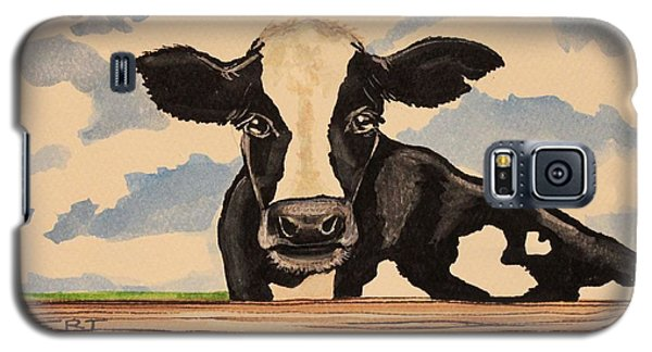 Say Hello To Patty The Cow Galaxy S5 Case by Elizabeth Robinette Tyndall