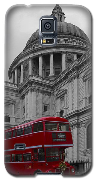 St Pauls Cathedral Red Bus Galaxy S5 Case
