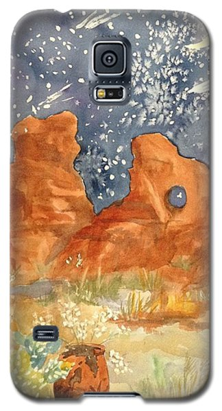 Starry Night In The Desert Galaxy S5 Case