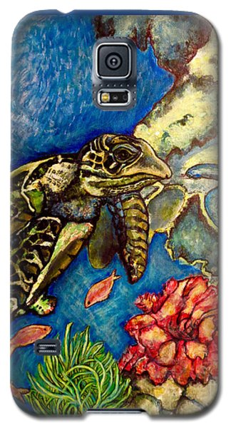 Sweet Mystery Of The Sea A Hawksbill Sea Turtle Coasting In The Coral Reefs Original Galaxy S5 Case by Kimberlee Baxter
