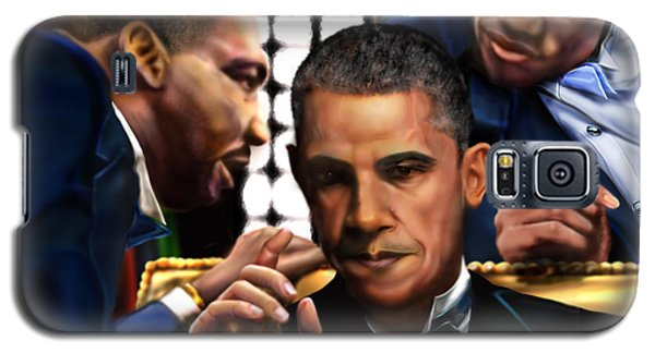 Barack Obama Galaxy S5 Case -  Sub Rosa The Council Of Made Men Iron Sharpening Iron by Reggie Duffie