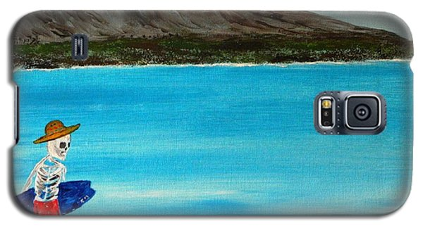 Galaxy S5 Case featuring the painting  Vamos A La Playa by Everette McMahan jr