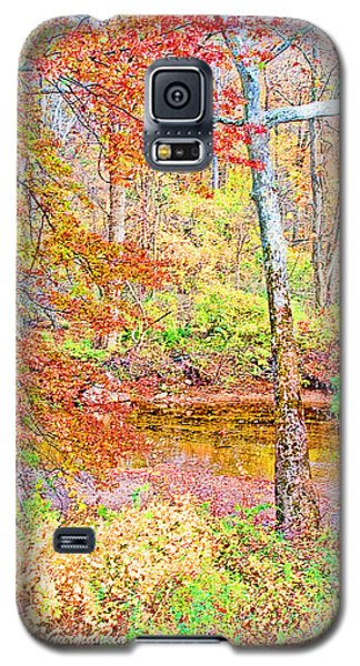 Galaxy S5 Case featuring the photograph  Woods In Autumn Montgomery Cty Pennsylvania by A Gurmankin