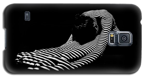 0086-dja Feet First Zebra Woman Striped Black White  Galaxy S5 Case