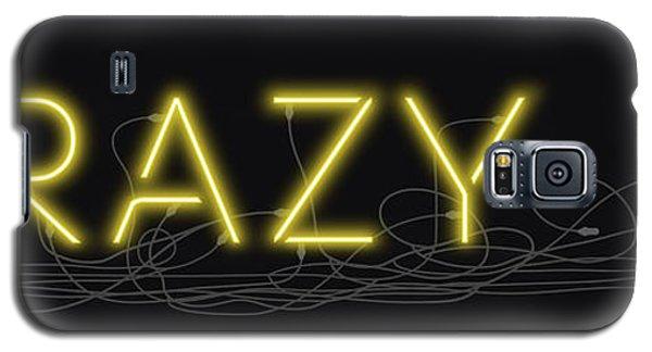 Crazy - Neon Sign 3 Galaxy S5 Case