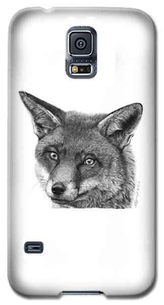 Galaxy S5 Case featuring the drawing 044 Vixie The Fox by Abbey Noelle