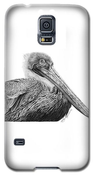 Galaxy S5 Case featuring the drawing 047 - Sinbad The Pelican by Abbey Noelle