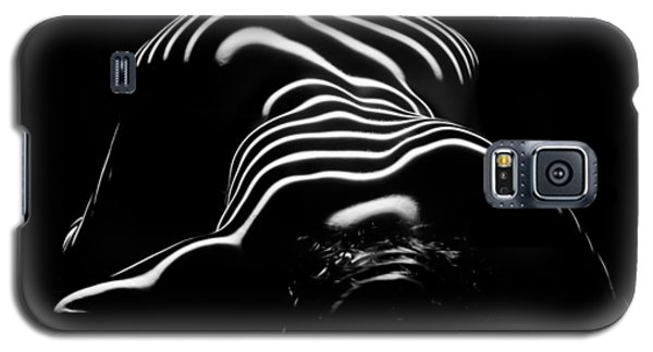 0686-ar Head Down Bottom Up Zebra Striped Female Figure Galaxy S5 Case