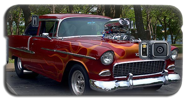 Galaxy S5 Case featuring the photograph 1955 Chevrolet Dragster by Tim McCullough