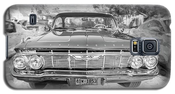 Galaxy S5 Case featuring the photograph 1961 Chevrolet Impala Ss Bw by Rich Franco