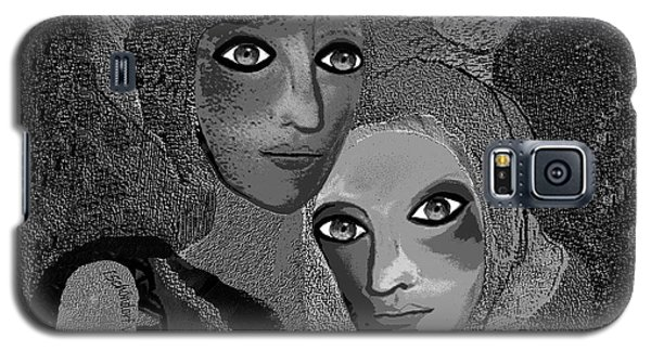 Galaxy S5 Case featuring the digital art 451 - To Lean On by Irmgard Schoendorf Welch