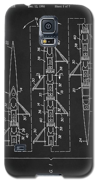 8 Man Rowing Shell Patent Galaxy S5 Case by Taylan Apukovska
