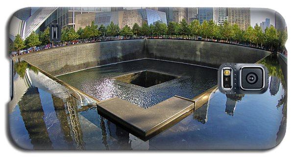 Galaxy S5 Case featuring the photograph 9/11 Memorial by Mitch Cat