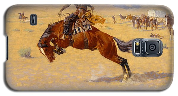 White Horse Galaxy S5 Case - A Cold Morning On The Range by Frederic Remington