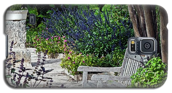 Galaxy S5 Case featuring the photograph A Garden Seat by Ken Frischkorn