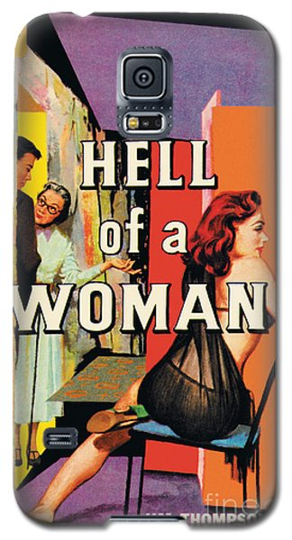 Galaxy S5 Case featuring the painting A Hell Of A Woman by Morgan Kane