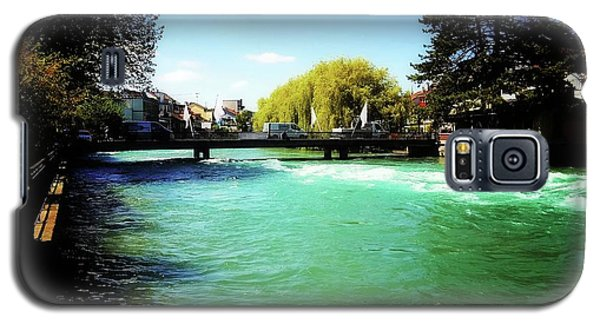 Galaxy S5 Case featuring the photograph Aare River by Mimulux patricia no No