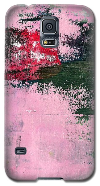 Galaxy S5 Case featuring the mixed media Abstract 1 by Lisa Noneman