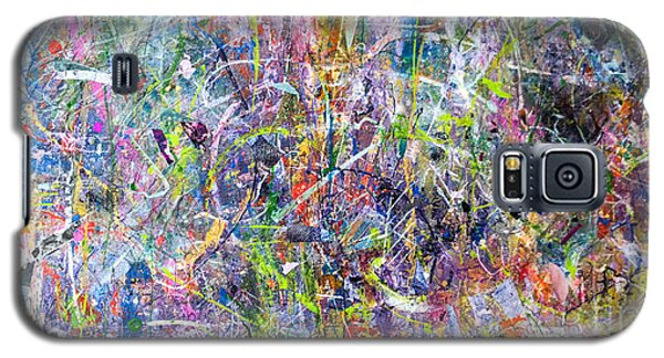 Galaxy S5 Case featuring the painting Abstract #87 by Robert Anderson