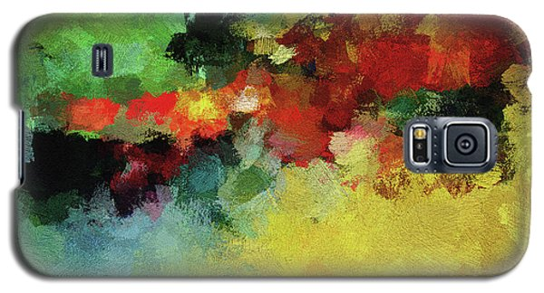 Galaxy S5 Case featuring the painting Abstract And Minimalist  Landscape Painting by Ayse Deniz