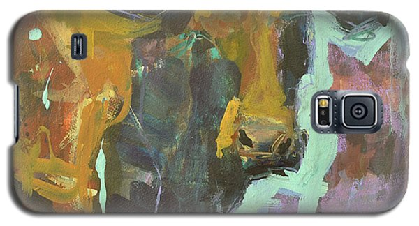 Galaxy S5 Case featuring the painting Abstract Cow Painting by Robert Joyner