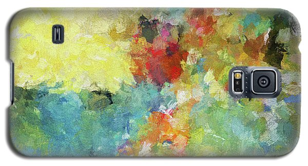 Galaxy S5 Case featuring the painting Abstract Seascape Painting by Ayse Deniz