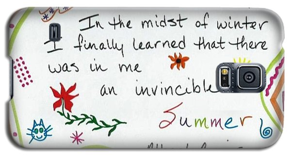 Albert Camus Doodle Quote Galaxy S5 Case