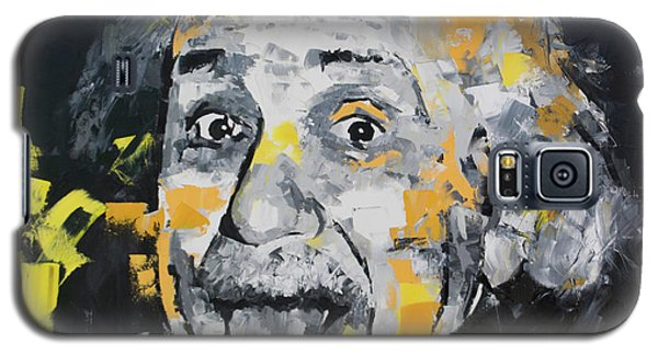 Galaxy S5 Case featuring the painting Albert Einstein by Richard Day