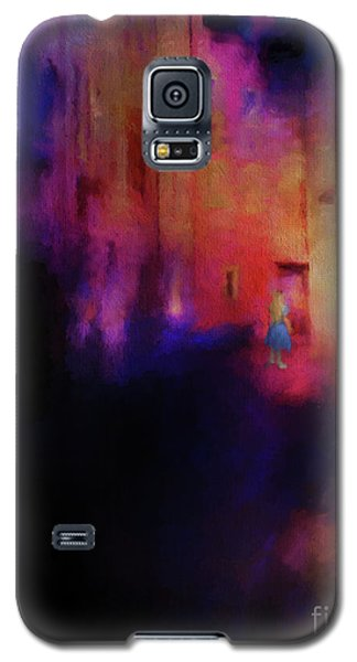 Galaxy S5 Case featuring the mixed media Alice by Jim  Hatch