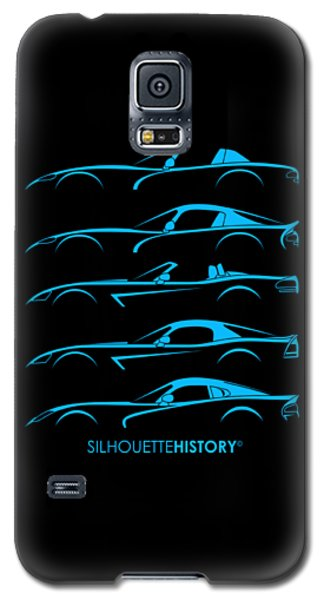 Viper Galaxy S5 Case - American Snakes Silhouettehistory by Gabor Vida