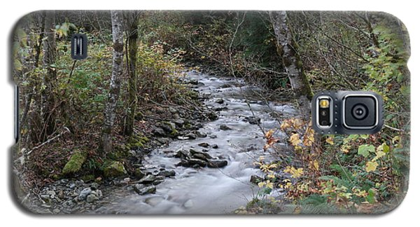Galaxy S5 Case featuring the photograph An Autumn Stream by Jeff Swan
