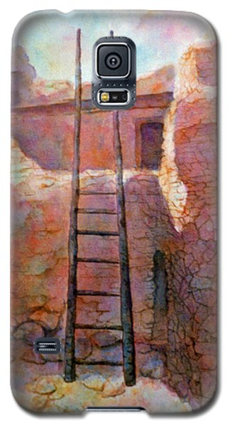 Galaxy S5 Case featuring the painting Ancient Walls by Ann Peck