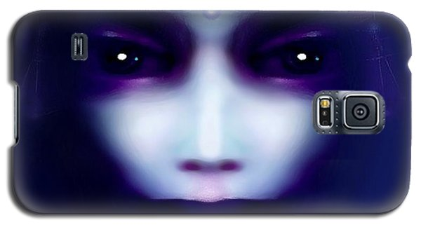 Galaxy S5 Case featuring the painting Angel  Blue by Hartmut Jager