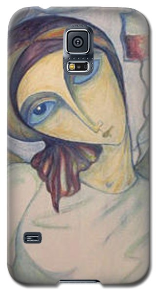 Galaxy S5 Case featuring the painting Angel Of Mercy by Rae Chichilnitsky