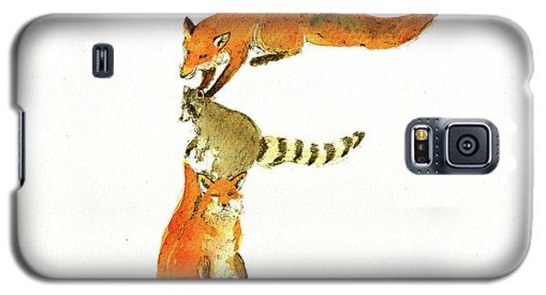 Raccoon Galaxy S5 Case - Animal Letter by Juan Bosco