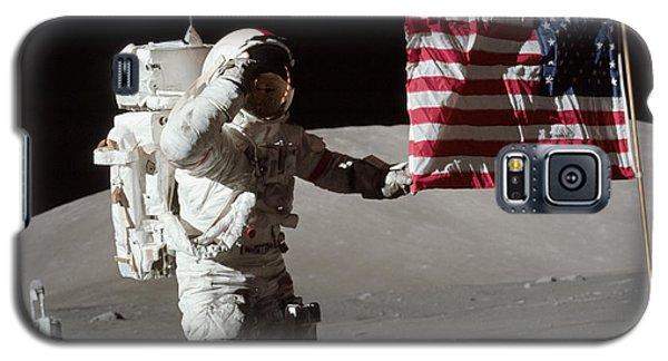 Apollo 17 Astronaut Salutes The United Galaxy S5 Case