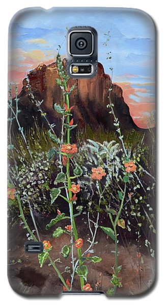 Arizona Desert Flowers-dwarf Indian Mallow Galaxy S5 Case