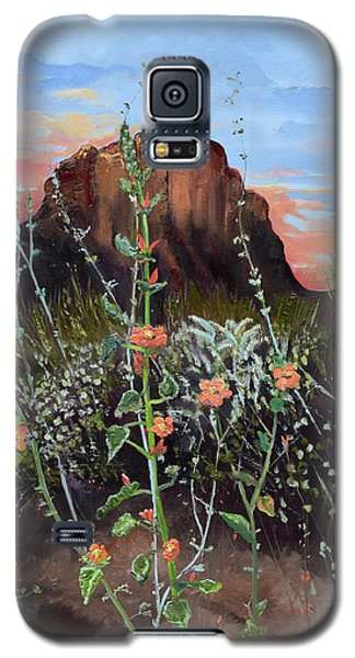 Arizona Desert Flowers-dwarf Indian Mallow Galaxy S5 Case