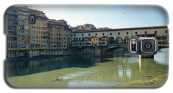 Galaxy S5 Case featuring the photograph Arno River In Florence Italy by Marna Edwards Flavell