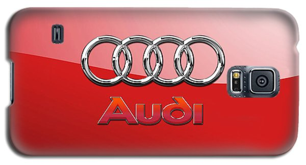Audi - 3d Badge On Red Galaxy S5 Case
