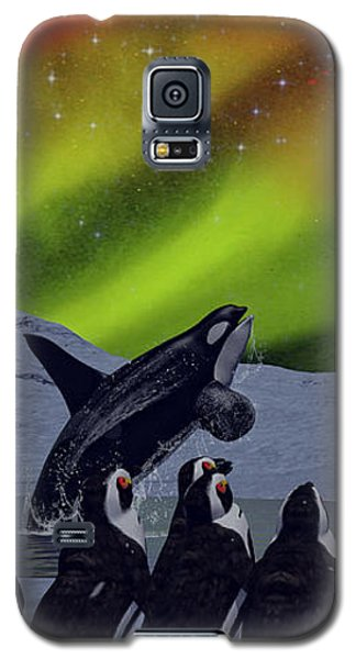 Galaxy S5 Case featuring the digital art Aurora Borealis by Methune Hively